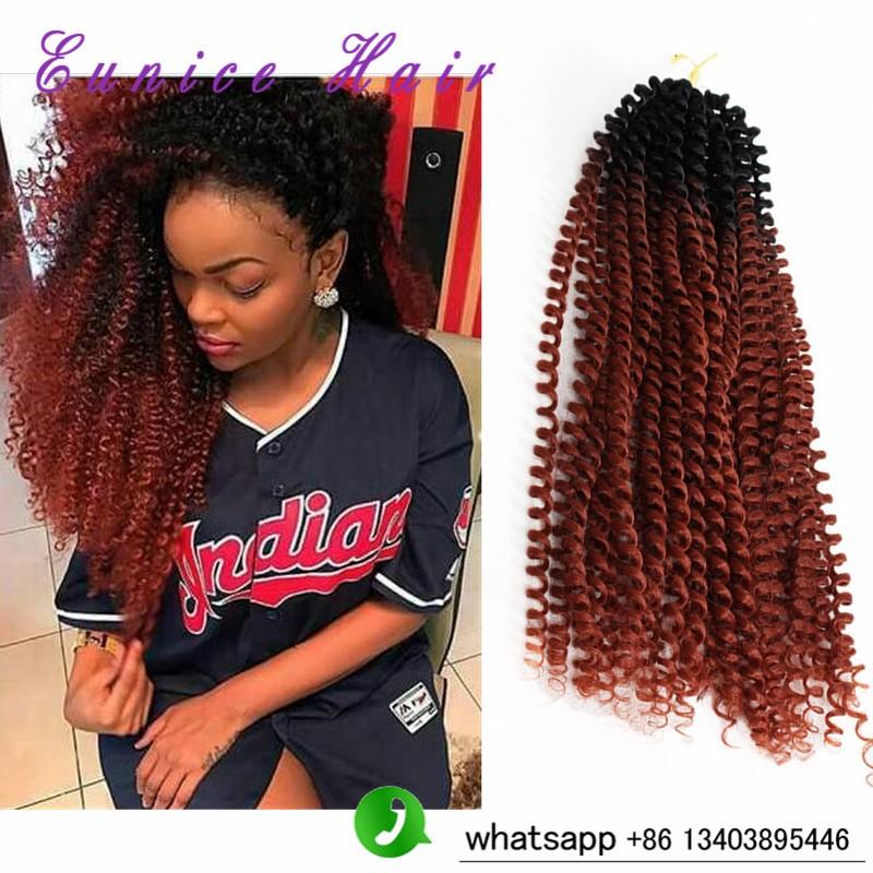 Synthetic Crochet Braids Kinky Twist Braiding Hair 16inch