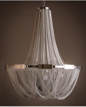 Natural Terzani Post Modern Neoclassical Luxury Tassel Chain Oriental Chandelier For Hotel Lobby