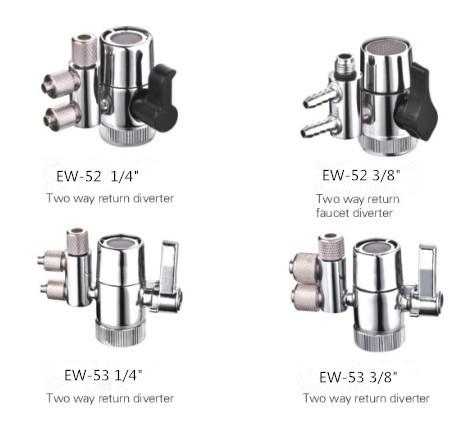 1 4 3 8 two way return diverter faucet diverter valve water filters purifier parts view faucet diverter valve ecowell product details from shen
