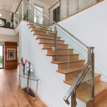 Modern Interior Glass Railing Designs With Stainless Steel Pvc   Stainless Handrails For Stairs   Toughened Glass   Outdoor   Mild Steel Handrail   Commercial Building   Metal