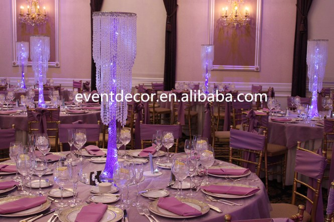 Whole Chic Modern Waterfall Crystal Chandelier Wedding Centerpiece