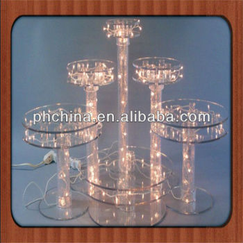 An A534 Modern Design Factory Sell Lighted Acrylic Cake