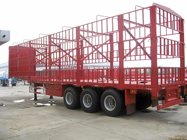 TITAN Multi function 3 Axles Flatbed Side Wall fence semi Cargo trailer