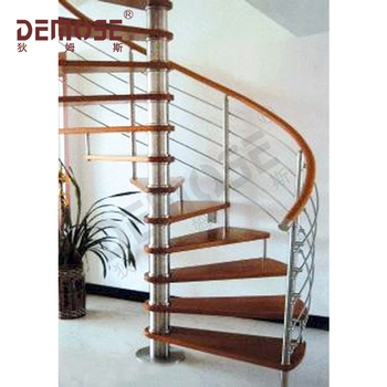 Arc Stairs With Stainless Steel Stair Railing And Wood Stair Step   Steel Steps For Stairs   Chequer Plate   Fabricated   Wire Mesh   Prefabricated   Corrugated Metal