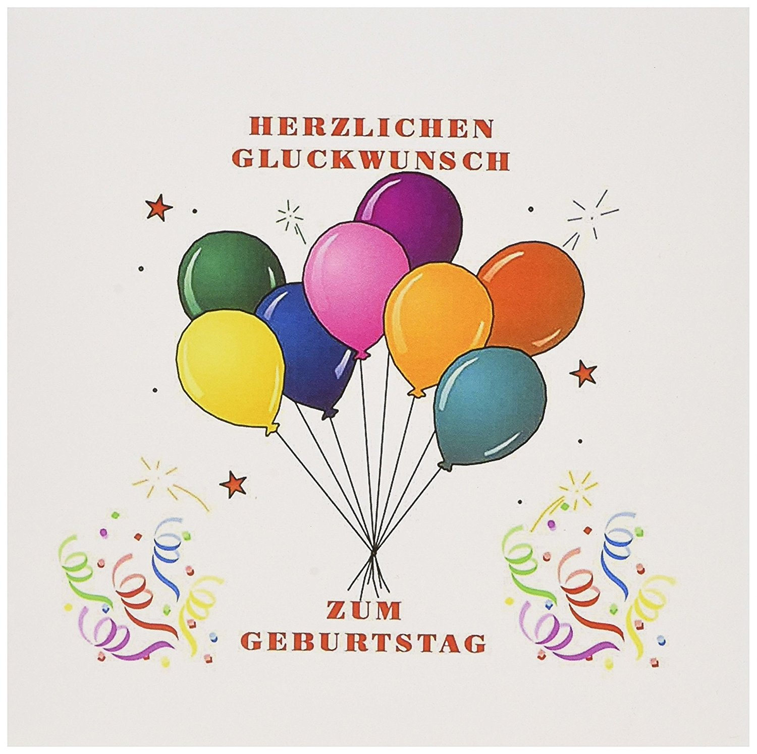 Buy Image Of Happy Birthday In German Balloons And Confetti Greeting Card 6 X 6 Inches Single Gc 223460 5 In Cheap Price On Alibaba Com