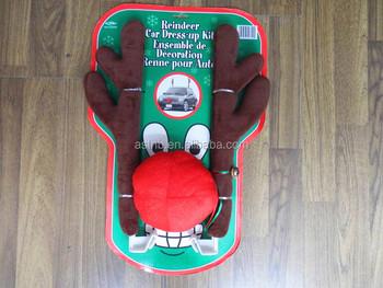 Christmas Reindeer Antlers Car Costume N