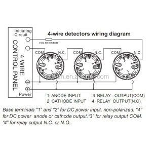 Lpcb Approved Optical Conventional 4 Wire Smoke Detector For Fire Alarm System En547 Standard