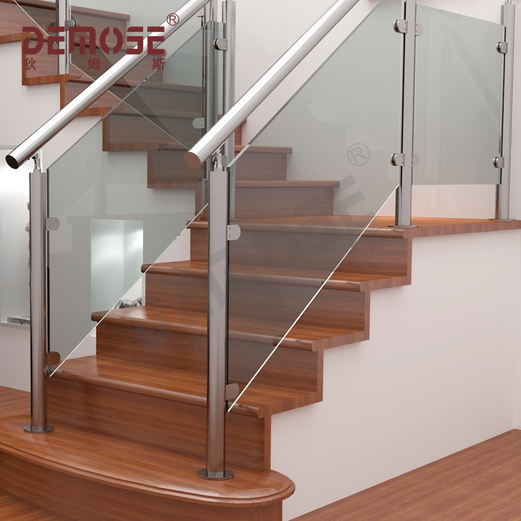 Demose Metal Railing Glass Railing Modern Stair Railings Buy   Modern Metal Stair Railing   Interesting   Horizontal Slat   Curved Metal   Low Cost   Before And After