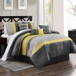 Buy Kinglinen 7 Piece Chai Yellow Gray Comforter Set Queen In Cheap Price On Alibaba Com