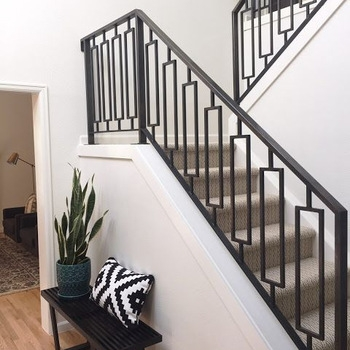 Decorative Indoor Steel Stair Railing Design And Iron Balustrades   Handrails For Stairs Interior   Spiral Stair   Industrial   Modern   Oak   Rustic