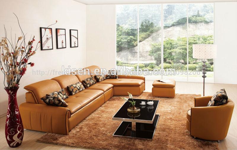 meubles modernes en cuir jaune vert