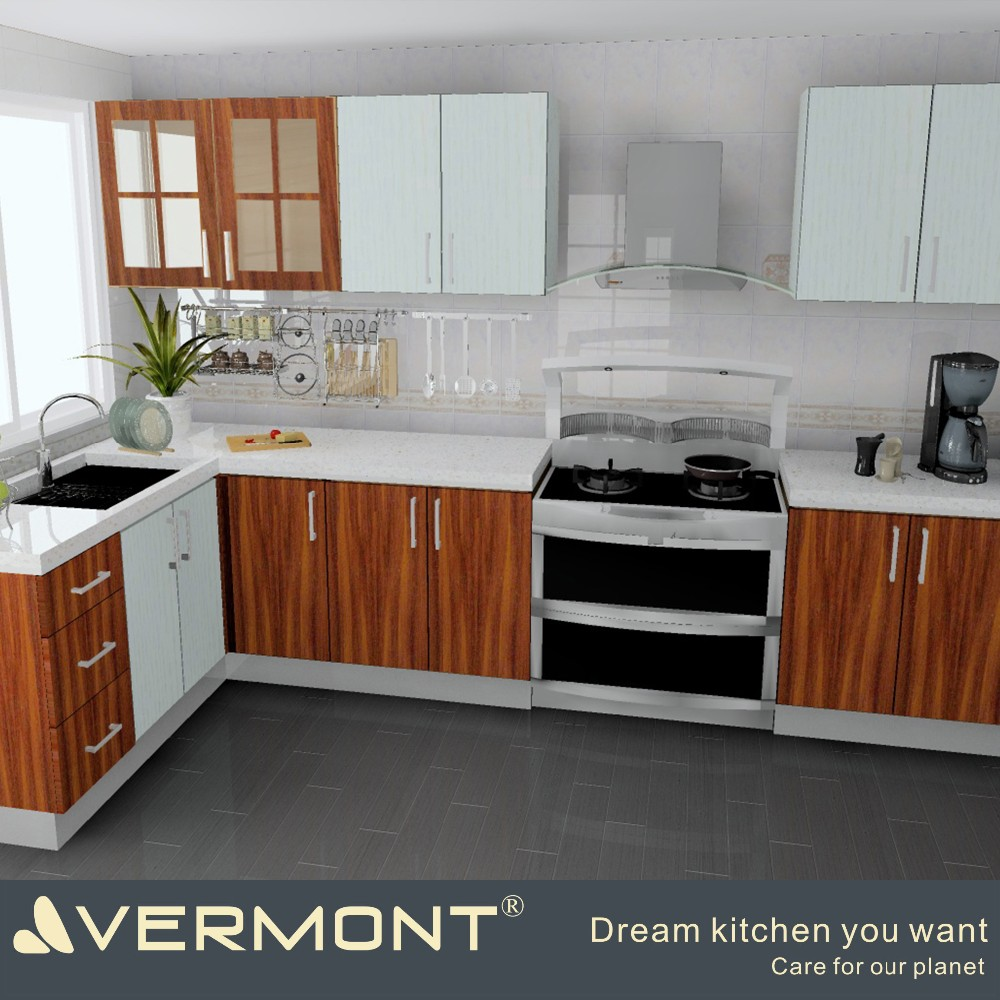 Apartment Bungalow Modern Ready Made Small Kitchen Design