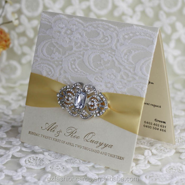 2017 Latest Elegant Indian Muslim Wedding Invitations