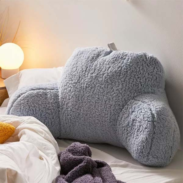 sherpa fleece reading pillow bed and backrest pillow with arms for adults or kids buy backrest pillow reading pillow bed backrest pillow with arms