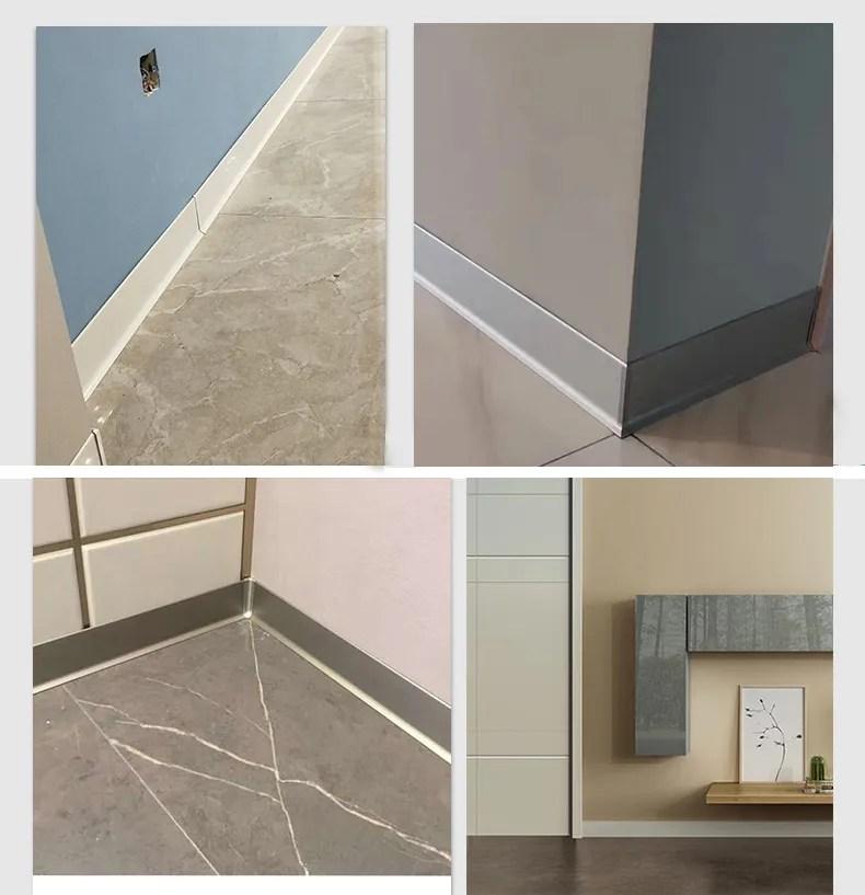 aluminum wall skirting baseboard accessories floor waterproof decorative tile trim aluminum profile buy aluminum wall skirting skirting board floor