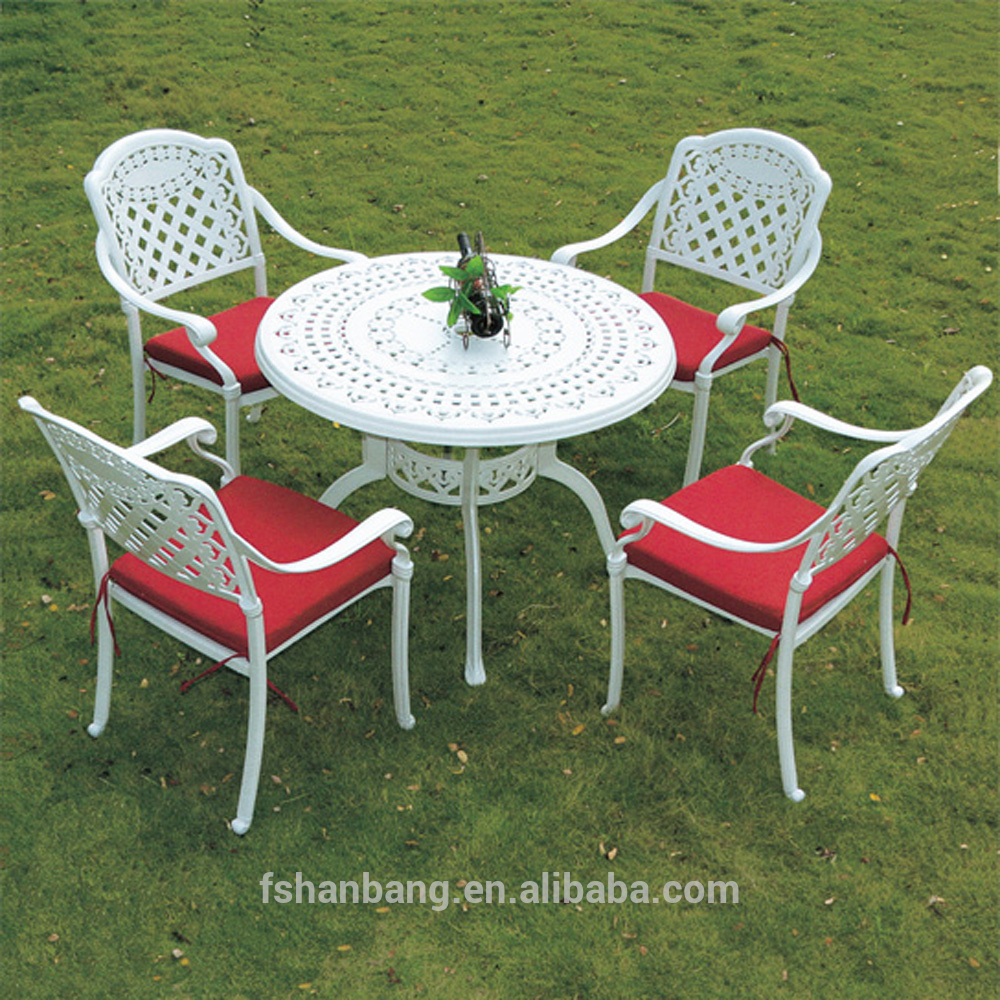 outdoor patio white round dining table and chairs set garden furniture cast aluminium buy garden furniture cast aluminium cast aluminium