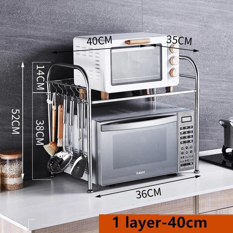 1 layer 40cm diy popular stainless steel kitchen shelf rack steelrack microwave oven stand kitchen plate rack buy stainless steel kitchen shelf
