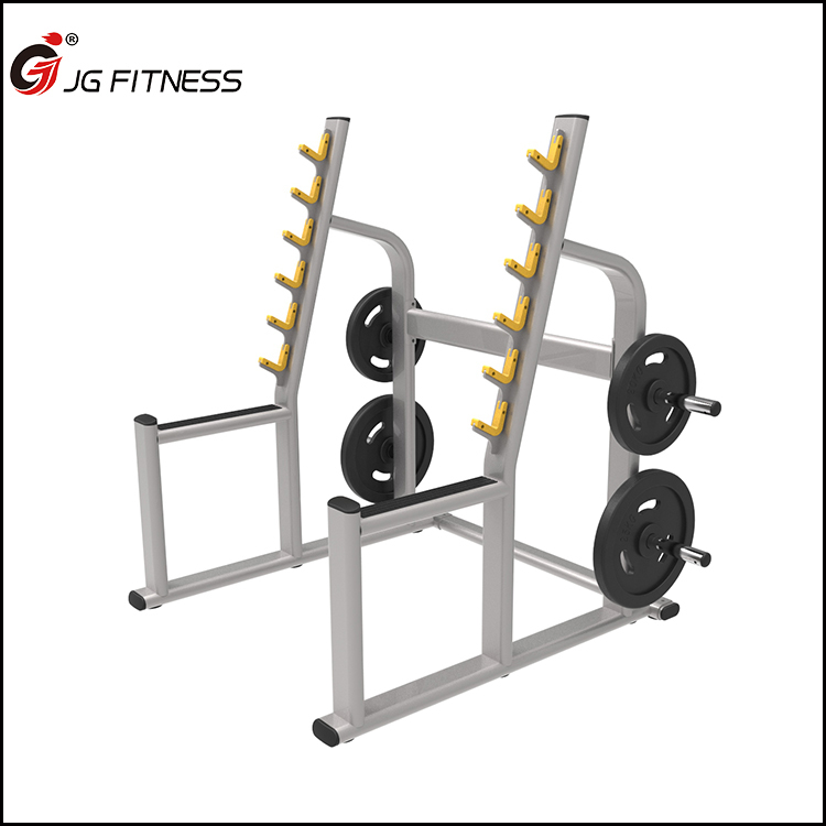 commercial gym equipment free weights angled squat rack with spotter arms view squat rack jg product details from shandong jinggong fitness