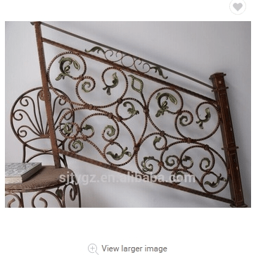 Classical Hand Forged Short Handrail Wrought Iron Stair Railing | Short Handrail For Stairs | Exterior Handrail Ideas | Deck Railing Ideas | Spiral Staircase | Concrete | Wrought Iron
