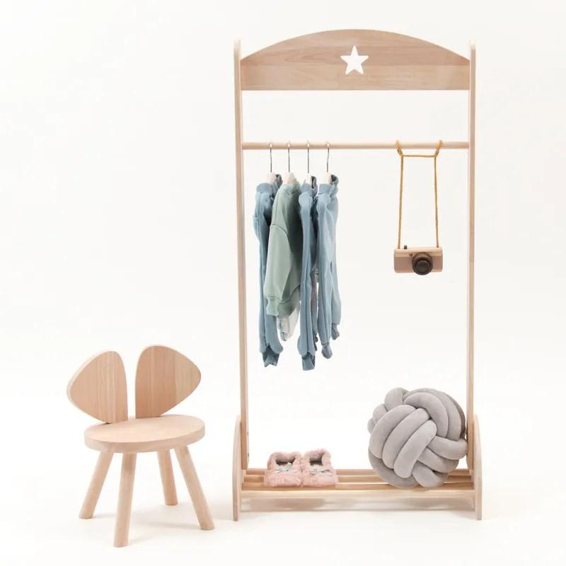 kids mini wooden funiture clothes garment rack dress up storage racks for kids room nursery decor percha buy wholesales wooden foldable clothes rack