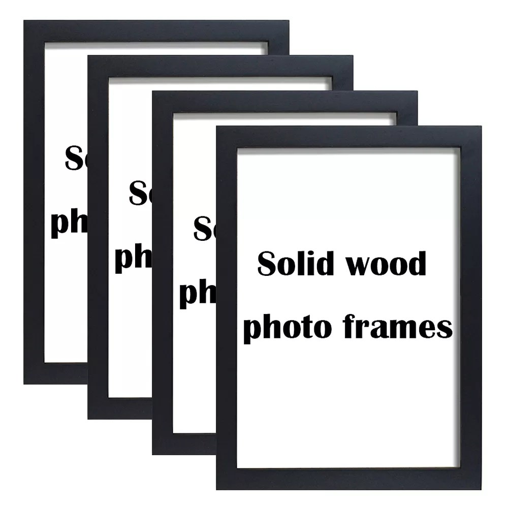 wholesale cheap a1 a2 a3 a4 a5 4x6 5x7 6x8 8x10 11x14 12x16 12x18 16x20 18x24 20x28 24x36 black poster picture wood photo frame buy wood picture