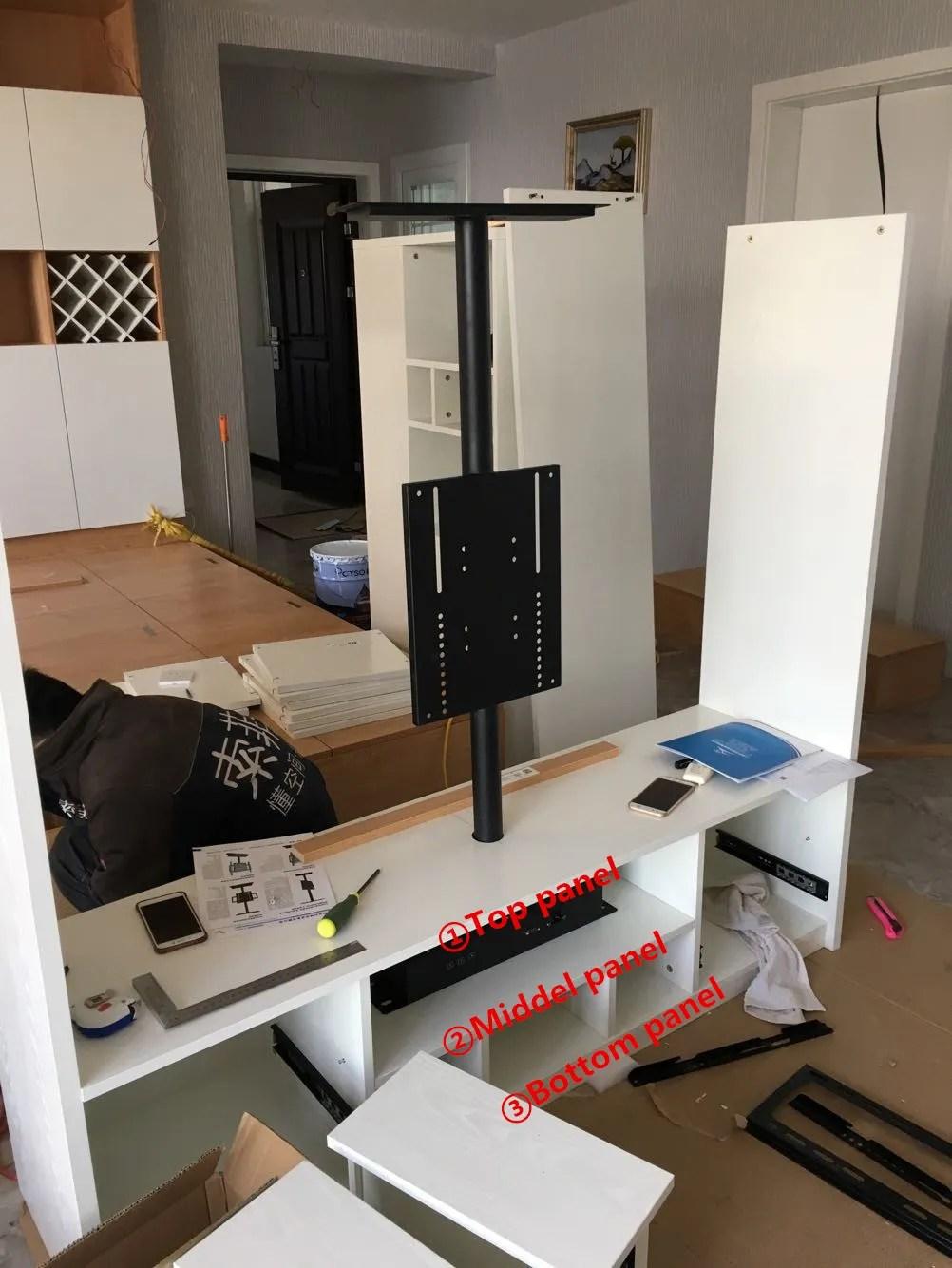 meuble tv vertical rotatif a 360 degres support suspendu en metal faisceau en h pour meuble tv buy poutre en h support de television