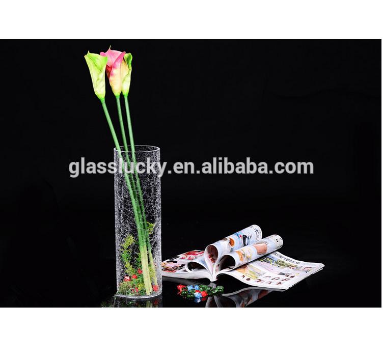 vase droit en verre de glace casse decoration de la maison vente en gros ml buy vase en verre clair vase droit en glace cassee pour la decoration de