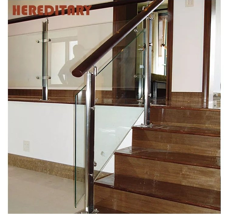 Tempered Glass Stainless Steel Designs Stair Railing Outdoor   Stainless Steel Staircase Railing With Glass   Infill   Custom Glass   Indoor   Panel   Modern