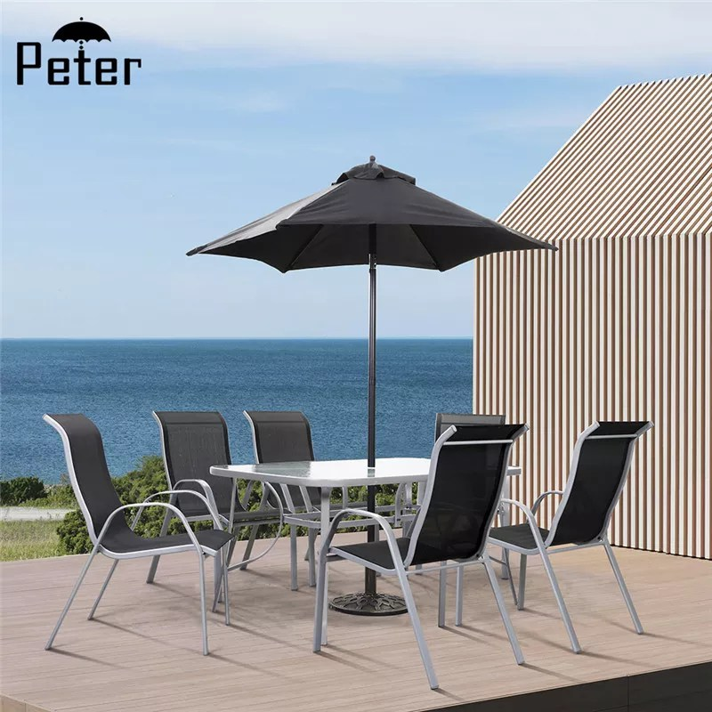 high end garden patio furniture stackable chairs outdoor table chair set with parasol buy outdoor table chair set with parasol garden table chair