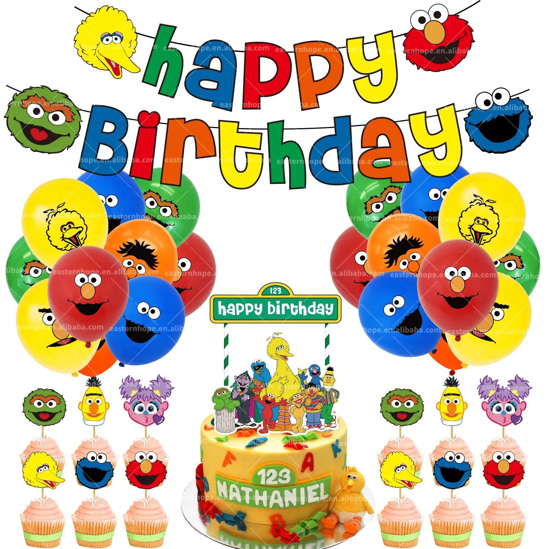 Sesame Street Birthday Party Decoration Kit Banner Balloons Kids Elmo Birthday Party Supplies Buy Sesame Street Birthday Party Supplies Kids Birthday Party Supplies Kid Party Product On Alibaba Com