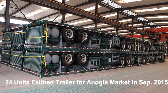 3 axle 20ft flatbed semi trailer , flat bed trailer , 40ft container flatbed trailer for sale