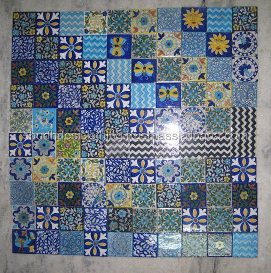Kitchenbathroom Indian Blue Pottery Tile Decals Buy