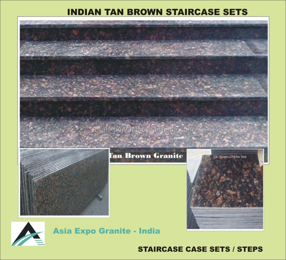 Golden Granite Tread Stone Staircase Spiral Stairs Stair Treads