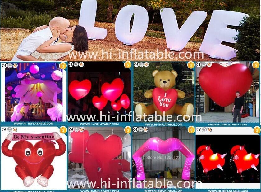 2016 High Quality Outdoor Inflatable Valentine Heats