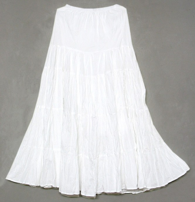 White Cotton Skirt - Dress Ala