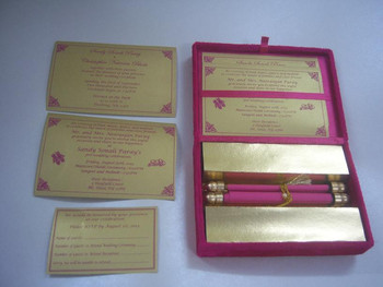 Boxed Scroll Wedding Invites Made With Velvet Bo And Custom Printed Inserts For Rsvp Thank You Cards Address Elegant