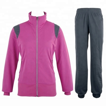 Micro twill track suit. High quality custom ladies fashion micro fabric tracksuits wholesale