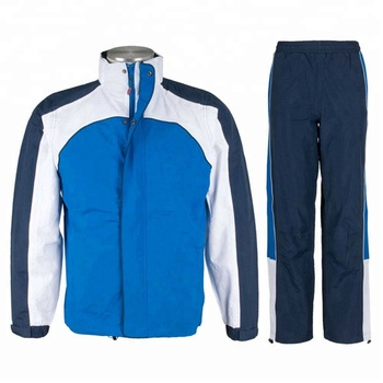 Micro twill track suit. Button up micro twill track suit for men