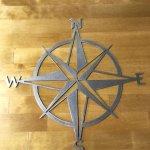 20 Nautical Star Compass Steel Wall Decor Wall Sculptures