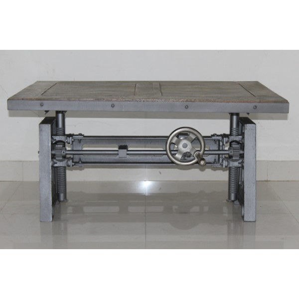 easy table basse de style industriel avec mecanisme a manivelle table basse vintage nouveau buy modern coffee table industrial coffee