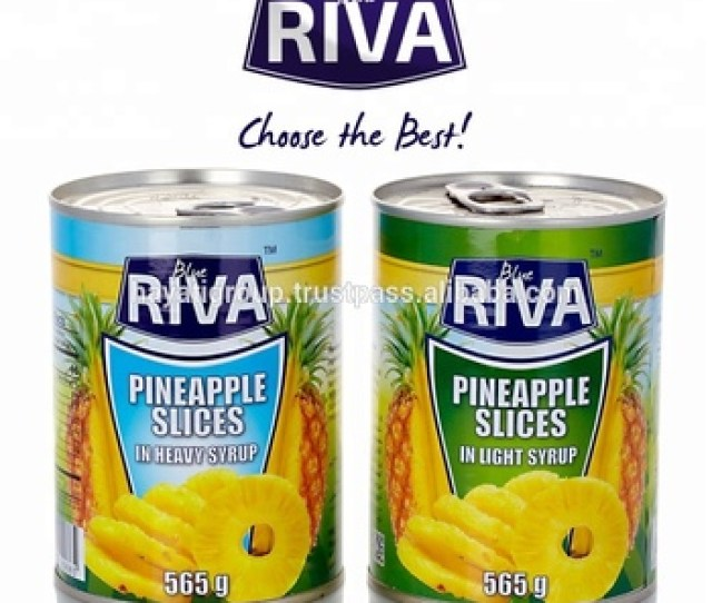 Canned Pineapple In Light Heavy Juice Syrup In Tin Can From Thailand