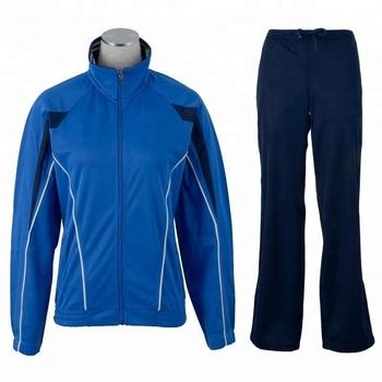 Micro twill track suit. Raglan sleeve royal blue zipper up micro twill track suit