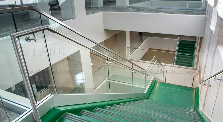 Aluminium U Channel Glass Staircase Railing In Pakistan View   Aluminium Railing For Stairs   Hand   House   Indoor   Staircase   3 Foot