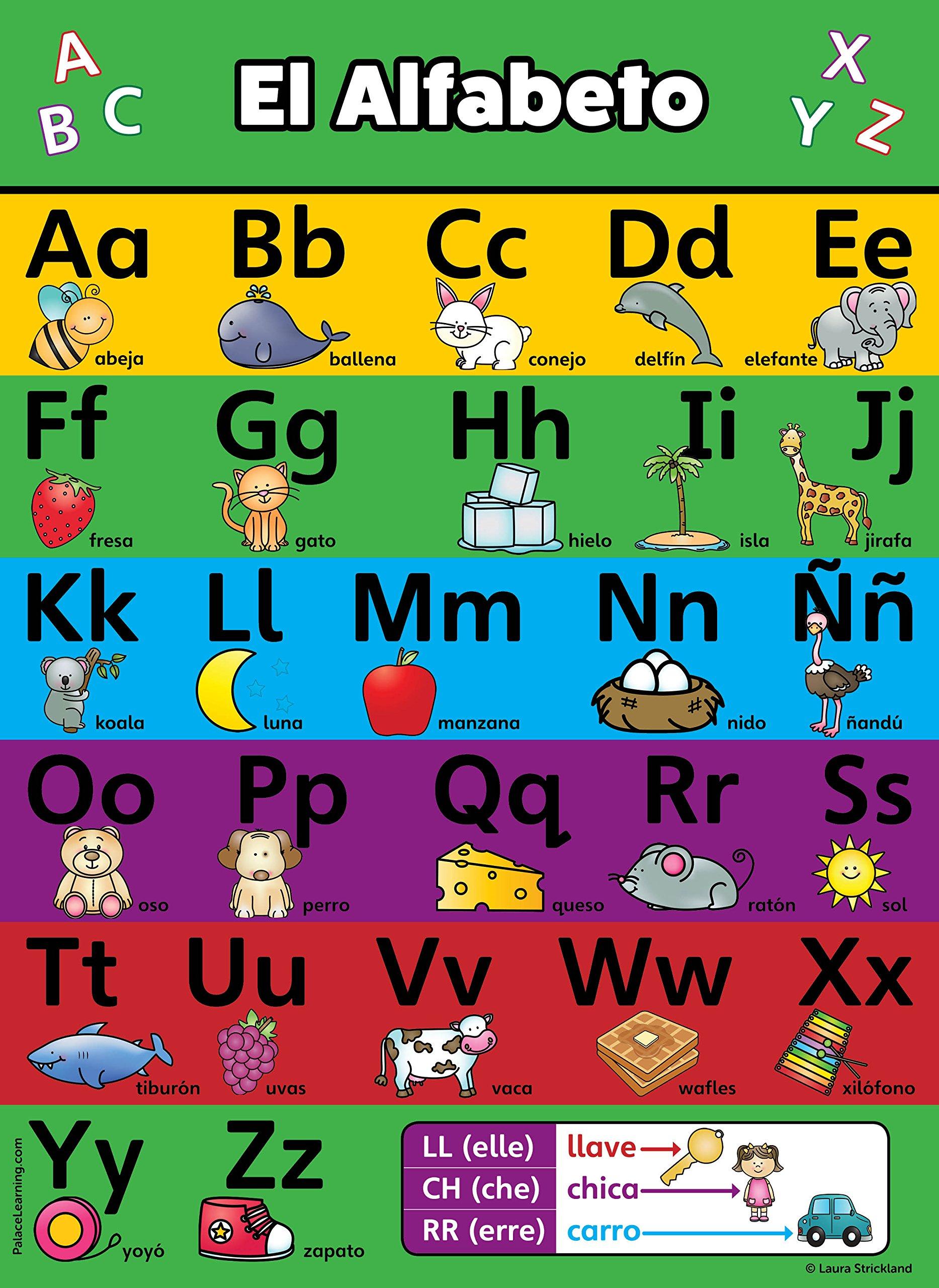Buy Abc Alphabet Spanish Poster Chart