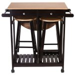 Buy Wood Kitchen Island Rolling Cart 3pc Home Kichen Set