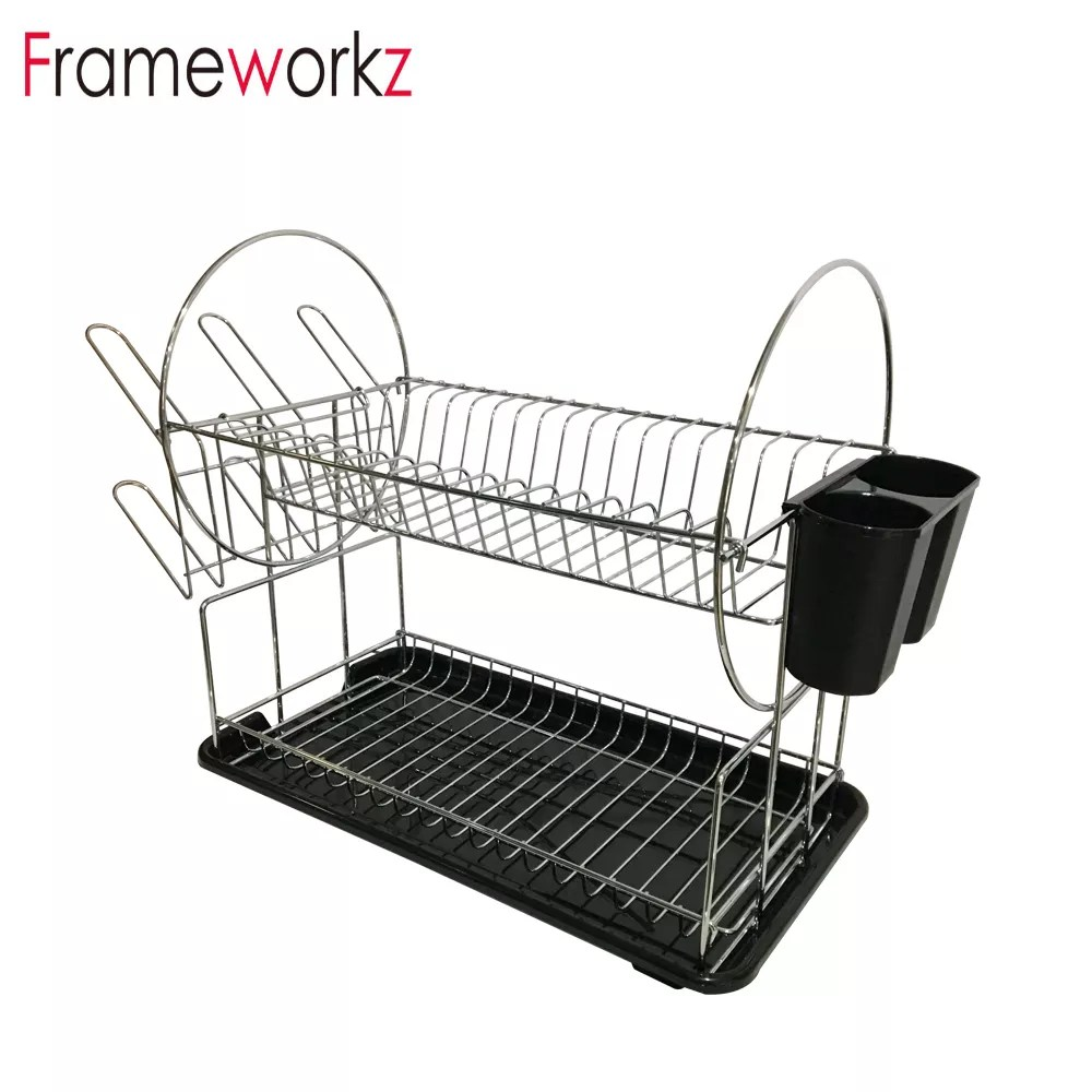 3 tier metal kitchen corner dish drainer shelf with tray and cup rack buy 3 layer dish rack corner dish rack dish rack shelf product on alibaba com