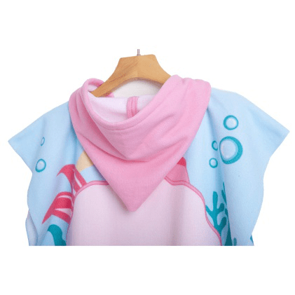 Soft awesome microfiber personalized kids poncho hooded bath towel