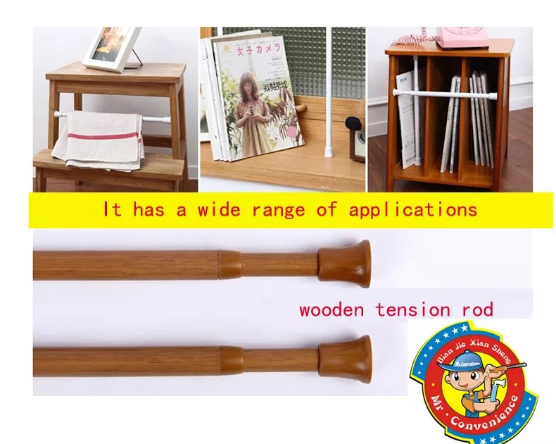 mini spring tension rods shower curtain rail cafe pole telescopic white colour wooden blind hanging perch buy spring curtain rod tension