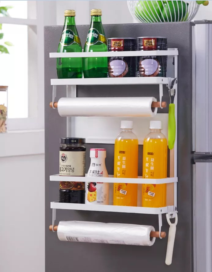 metal fridge side holder shelf magnetic refrigerator storage organizer tool hanging rack buy refrigerator rack magnetic refrigerator storage