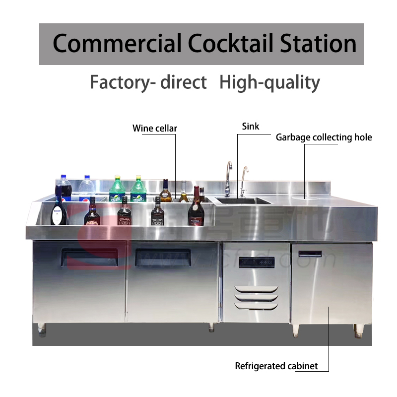 commercial kitchen professional cocktail station bar station design for bar pub hotel restaurant buy cocktail bar station stainless steel cocktail